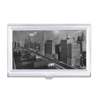 November 1939:  Die Stadt von Chicago Visitenkarten Etui
