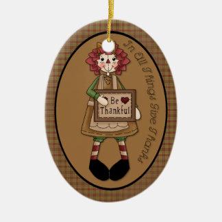 "November geben Dank-"" Verzierung Keramik Ornament"