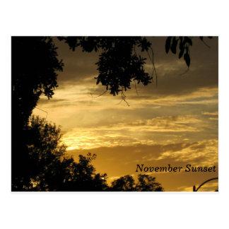November-Sonnenuntergang-Postkarte Postkarte