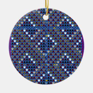 NOVINO Beschaffenheits-Muster-Treffen grüßen Rundes Keramik Ornament