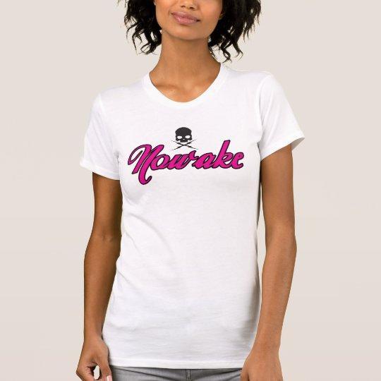 NOWAKE Rosa mit dem T-Stück Skully Frauen T-Shirt