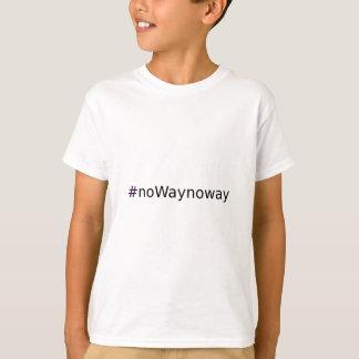 #noWaynoway T - Shirt mit lila Kreuz