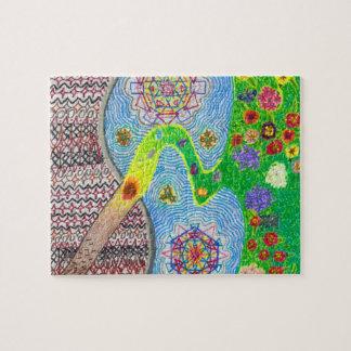 Nowruz Frühling und Leben-Erneuerungs-Puzzlespiel