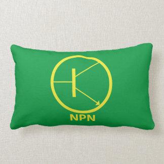 "NPN Transistor-Polyester-lumbales Kissen 13"" X 21"