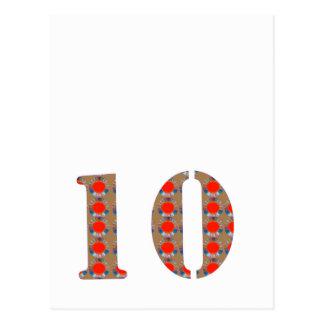 Nr. 10 ZEHN Geburtstags-Jahrestag ERINNERUNG Postkarte