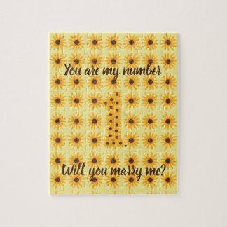 Nr. 1 ein Sonnenblume-Heirat-Antrag-Puzzlespiele