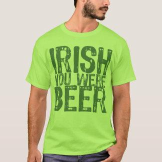 NSPBdtxt Iren waren Sie Bier-Grün-T - Shirt