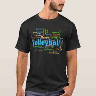 Nuage de mot de volleyball t-shirt