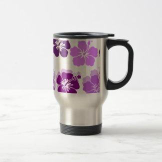 Nuances des ketmies pourpres mug de voyage en acier inoxydable