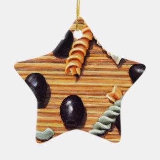 Nudelsalat-Chaos Keramik Stern-Ornament