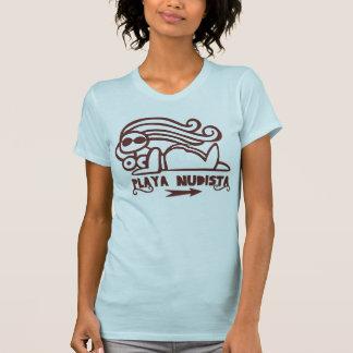 Nudistischer Strand T-Shirt