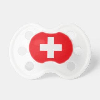 Nuggi avec la croix suisse sucette pour bébé