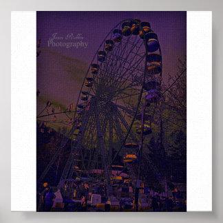 Nuit au parc d'attractions posters