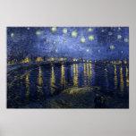 Nuit étoilée de Van Gogh au-dessus du Rhône Poster
