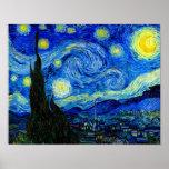 Nuit étoilée par la copie d'affiche de beaux-arts poster