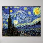 Nuit étoilée par Vincent van Gogh 1889 Poster