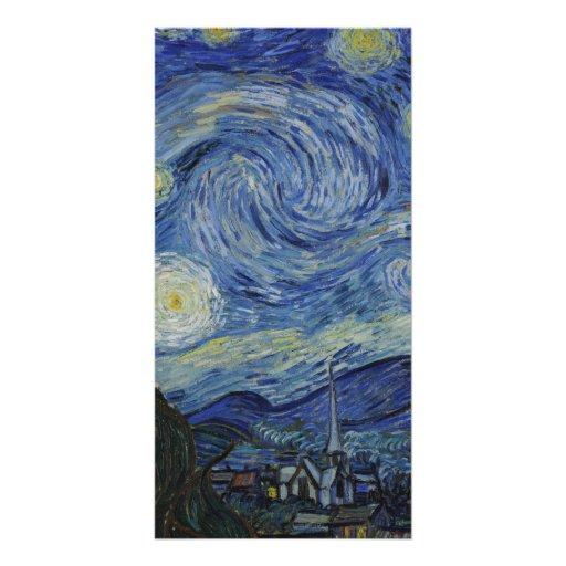 Nuit étoilée par Vincent van Gogh Cartes De Vœux Avec Photo