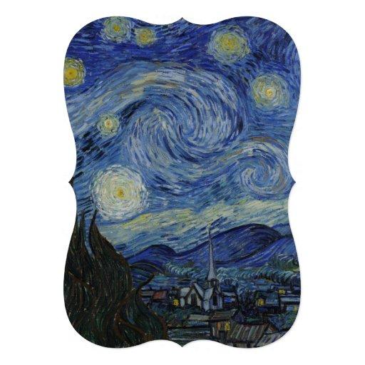 Nuit étoilée par Vincent van Gogh Faire-parts