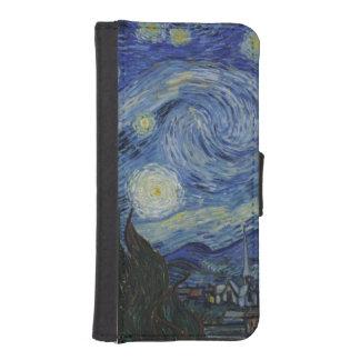 Nuit étoilée par Vincent van Gogh Coques Avec Portefeuille Pour iPhone 5