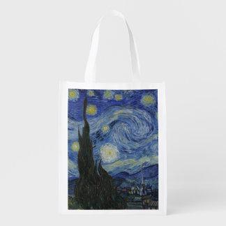 Nuit étoilée par Vincent van Gogh Sac Réutilisable D'épcierie