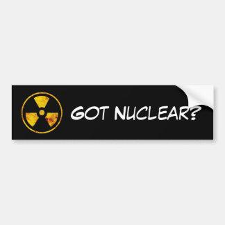 Nuklear erhalten autoaufkleber