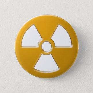 Nukleare Warnung Runder Button 5,7 Cm