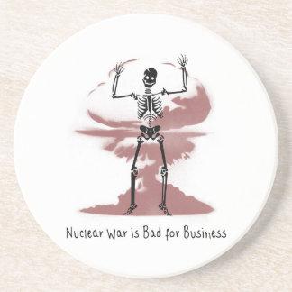 Nuklearer Krieg ist für Geschäft schlecht Untersetzer