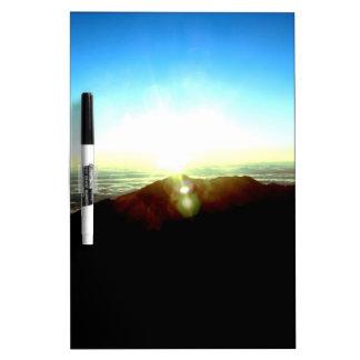 Nuklearer Sonnenaufgang Trockenlöschtafel