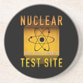 Nuklearer Test-Standort-Retro AtomalterGrunge: Sandstein Untersetzer