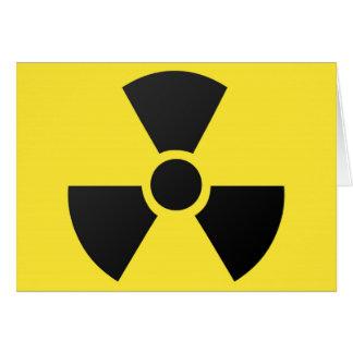 Nukleares Atomsymbol der radioaktiven Strahlung Karte