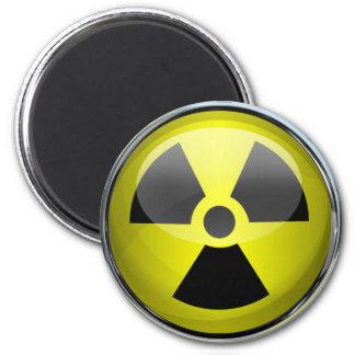 Nukleares Strahlungs-Symbol-radioaktives Runder Magnet 5,7 Cm