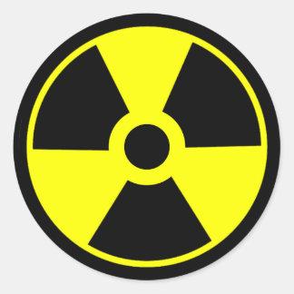 Nukleares Strahlungs-Symbol-radioaktives Symbol Runder Aufkleber