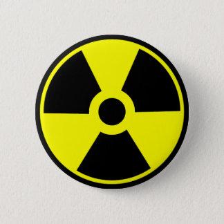 Nukleares Strahlungs-Symbol-radioaktives Symbol Runder Button 5,7 Cm
