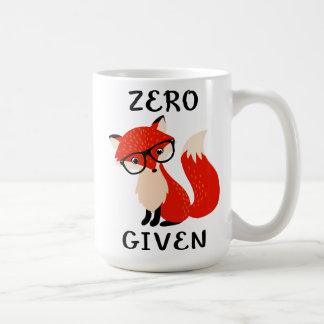 Null Fox gegebene lustige Zitat-Kaffee-Tasse Kaffeetasse