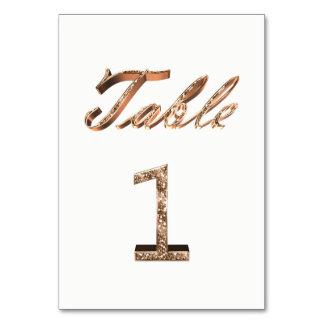Numéro de carte élégant 1 de Tableau d'or de