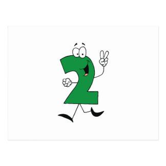 Nummerieren Sie 2. Geburtstags-T-Shirts und Postkarte