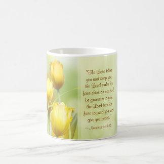 Nummeriert 6:24 - 26, Blessing Lords, gelbe Tulpen Tasse