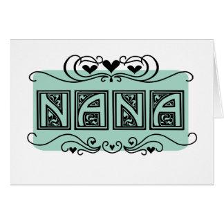 Nummernschild-Nana-T - Shirts und -geschenke Karte
