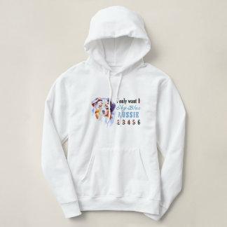 Nur 1 Himmel-Blau-Australier-Shirt Hoodie