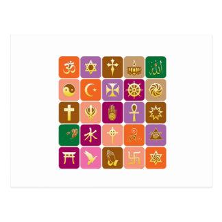 Nur ANZEIGE: Dekorative religiöse IKONEN Postkarte