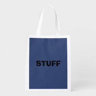 Nur blauer eleganter Stahlnormallack Wiederverwendbare Einkaufstasche