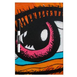 Nur die Augen können sagen Trockenlöschtafel