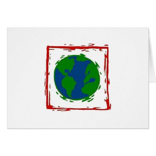 """""""Nur die, die versuchen, können Weltändern"""" Karte"""