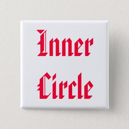 Nur die FAMILIE sind innerer Kreis Quadratischer Button 5,1 Cm