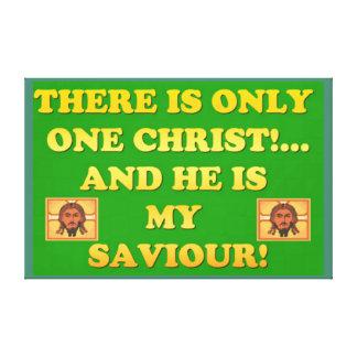 Nur ein Christus! Und er ist mein Retter! Leinwanddruck