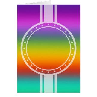 NUR FARBsteigungen - multi Farbe + Ihr Text Karte