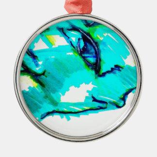 Nur genug und nichts mehr Dinosaurier Silbernes Ornament
