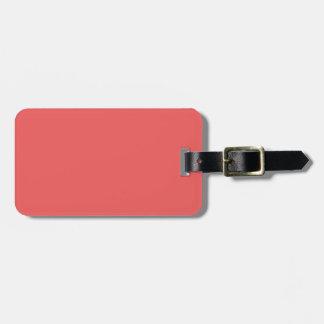 Nur heller korallenroter rosa girly kofferanhänger