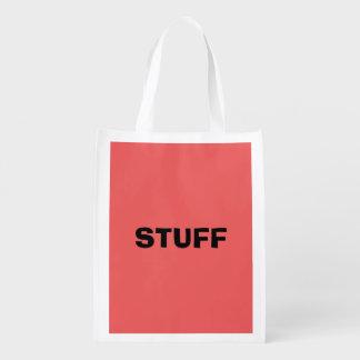 Nur heller korallenroter rosa girly Normallack Wiederverwendbare Einkaufstasche