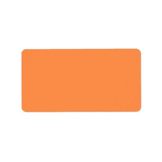 Nur orange hübscher Normallack OSCB46 der Melone Adress Aufkleber
